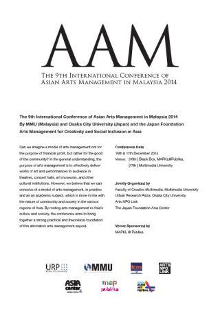 asia arts management conference in malaysia