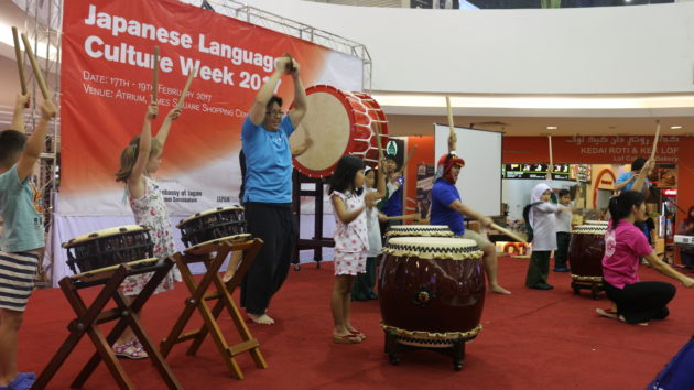 Times Square Brunei-taiko workshop for kids (2)